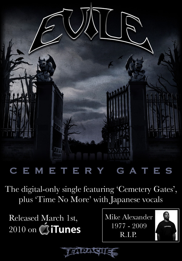 "British thrashers EVILE have released a digital-only single of the band's cover of PANTERA's ""Cemetery Gates"""