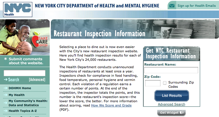 New York City health department begins letter-grading restaurant inspections