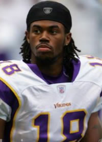 Sidney Rice from the Minnesota Vikings will likely miss at least half the season
