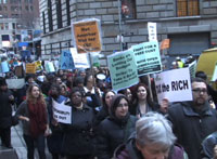 Thousands Rally And March From City Hall To Wall Street