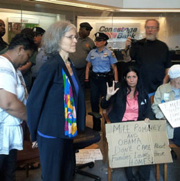 Green Party Candidates Jill Stein Cheri Honkala Arrested In Foreclosure Protest