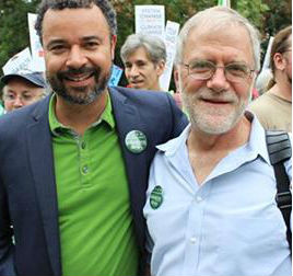 Brian Jones (L) and Howie Hawkins (R) at last month's People's Climate March